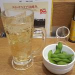 8番らーめん - ハイボールと枝豆