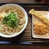 香川製麺所 - 料理写真:かけ大&アナゴ天・とり天