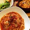 Scampi - 料理写真:ハーフパスタとハーフドリアのランチセット♡