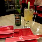 台湾麺線 - 檸檬愛玉400円、台湾金牌ビール