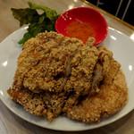 台湾麺線 - 夜市の鶏排(チーパイ)720円