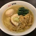 鶏そば カヲル - 鶏そば塩(味玉)