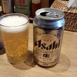 大島 - 缶ビール(350円)