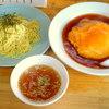 らーめん でん - 料理写真:ランチセット(天津丼&つけめん)¥700