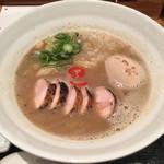 麺や いま村 - 鶏煮干しらぁめん+味玉+炭焼き鶏チャーシュー