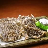 種類豊富な泡盛やオリオンビールと一緒に「もずく天ぷら」をぜひ