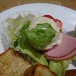 神戸屋ブレッズ - ハムとポテトサラダ、お野菜付。