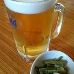 そば処たじま - 生ビール。