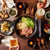 【渋谷西口店限定オリジナル】4串+5品の2.5時間飲放コース