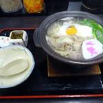 資さんうどん - 「かしわ汁鍋うどん」730円