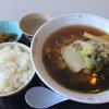 北の厨房 - 料理写真:醤油ラーメン、ライス