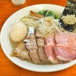 麺処 有彩 - '17.02味玉塩+チャー