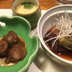 和食処 まさご - ホタテの煮物&茄子や野菜の炊き合わせ&茶碗蒸し