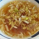 一圓 - 一圓 本店 @吉祥寺 ラーメンが人気の理由がよく分かる餃子ライスに付く醤油味スープ