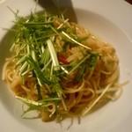 シエロイリオ ヒガシ - 季節野菜のペペロンチーノ スパゲッティーニ:1,100外税