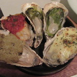 ネリマ オイスター バー - 「牡蠣のグリル5種」
