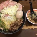 東京担々麺  ゴマ哲 - 全部入り汁なし担々麺(大盛)(スープ付)