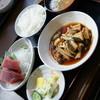 一力 - 料理写真:日替わりランチ(850円)主菜は『煮穴子』ご飯は『茶碗』2017年2月
