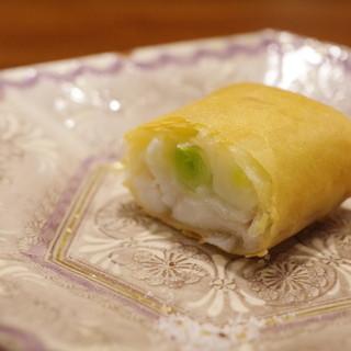 虎峰 - 料理写真:うるいと鱈の春巻