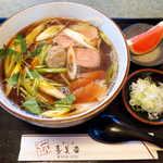 寿美吉 - 鴨南蛮(¥1650)。ほのかに柚子が香るつゆ、醤油・甘さともやや強めの塩梅