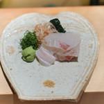 神楽坂 石かわ - 鯛のお造り