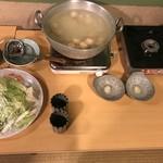 芝 - 博多水炊き(梅コース)