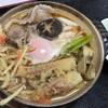 多楽福亭 - 料理写真:鍋焼きうどん(エビ抜き)900円