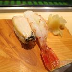 札幌シーフーズ - アワビ、ボタンエビ