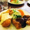 グリルあかつき - 料理写真:ビーフシチュー定食にミックスフライ定食