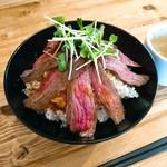 肉バル529 - ランプキャップステーキ丼