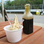 パーラーブーブー - ソフトクリームと黒蜜