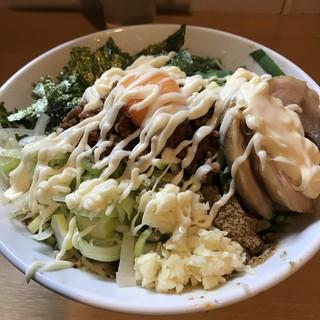豚星。 - 料理写真:【2017.2.21】台湾まぜそば塩¥950