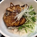 四川担担麺 阿吽 - 炙り叉焼丼、ご飯がお粥だー!