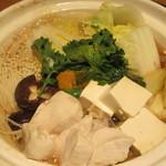62970378 - 滋賀県産近江鶏のすき焼き鍋