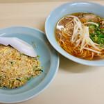 ラーメン亭 - ラーメン(醤油) チャーハン  ワンコイン(´༎ຶོρ༎ຶོ`)