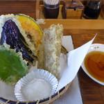 篁園 - 野菜の天ぷら(250円)_2017-02-21