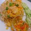 ミッタパップ タイレストラン - 料理写真:海老チャーハン♪ ピリ辛のタレをかけると味に変化が出て美味しいですよ。