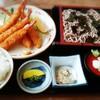 食事処なかやま - 料理写真:エビフライ定食 (そば付)はサービスメニューでこの日は1000円でした