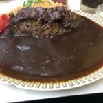 キッチン南海 - ご飯少なくしてもらった分カレーの海広し(笑)