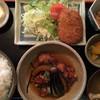 和風居酒屋 ひょうたん - 料理写真:本日の日替りランチ¥830。 若どりみぞれ煮とコロッケ(ご飯大盛)