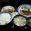 あわや食堂 - 料理写真:かじきまぐろ焼き定食 ¥950(豚汁に変更でプラス¥50)