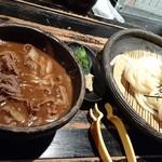 63043631 - 牛と土ごぼうのおつけ麺(冷) 990円