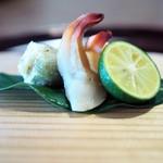 松川 - ミル貝蒸し ふきのとうの天ぷら