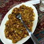ジャヴァン・レストラン - ミルザ・ガサミ Mirza Ghasemi  茄子とニンニクの炒め物