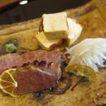 米倉 - 鴨ロース炭火焼、鯛のつみれ焼き