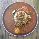 63080767 - チキンキーマ+トマトカレー+お肉のカレー(マトン)