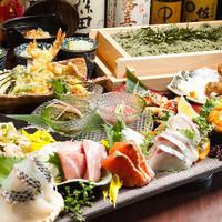 < 旬菜×鮮魚×へぎ蕎麦 >でおもてなし