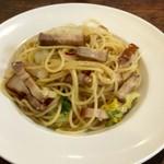 NOBI - ランチパスタ・自家製ベーコンと白菜のペペロンチーノ(1300円)