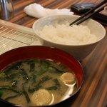 まん福 - ご飯とお味噌汁 単品