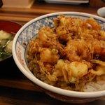 まん福 - かき揚丼セット